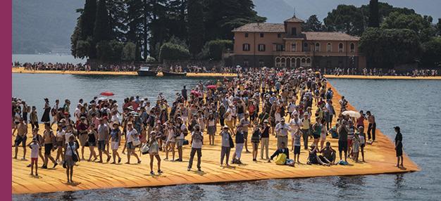 Christo, marcher sur l'eau (Walking on Water)